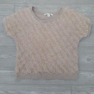 Forever 21 fluffy short sleeve blouse